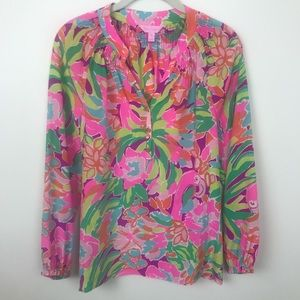Lilly Pulitzer Elsa Silk Top Size S